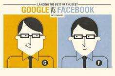 Estagiarios | Infográfico mostra as diferenças entre Google e Facebook http://www.bluebus.com.br/infografico-mostra-as-diferencas-entre-o-estagio-no-google-e-no-facebook/