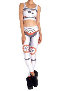 Orange Robot Leggings - POPRAGEOUS  - 1
