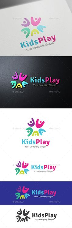 Kids Play Logo Template Vector EPS, AI #logotype Download here: http://graphicriver.net/item/kids-play/10378957?ref=ksioks