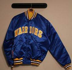 b248814b524 vintage starter  NBA golden state warriors blue satin jacket large 80 s  from  350.0 Warriors Jacket
