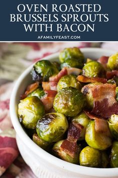Bacon And Brussel Sprouts Recipe Oven.How To Cut Brussels Sprouts Gimme Some Oven. Crispy Roasted Brussels Sprouts With Bacon A Saucy Kitchen. Creamy Cheesy Brussels Sprouts With Bacon Recipe Easy . Home and Family Fresh Brussel Sprout Recipe, Brussel Sprouts Recipe Oven, Roasted Brussel Sprouts Bacon, Cooking Brussel Sprouts, Bacon Recipes, Vegetable Recipes, Cooking Recipes, Vegetable Ideas, Game Recipes