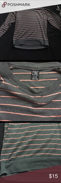 """NWOT """"Zine"""" Cozy Striped Sweater🎀 New without tags """"Zine"""" striped sweater in pink & grey. Pairs well with just about anything😊 size small. Zine Sweaters"""