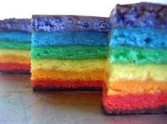 Really Rainbow Rainbow Cookies!