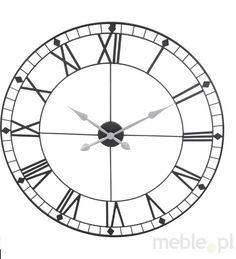 Metalowy zegar ścienny - 88 cm, M3 - Wyposażenie wnętrz