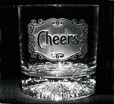 Engraved Personalized Custom Monogram Whiskey, Bourbon, Scotch Glasses
