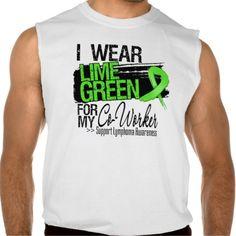 Lymphoma Ribbon For My Co-Worker Sleeveless Tees Tank Tops