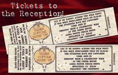 Western Wedding Favors Reception Tickets Cowboy Theme by handykane, $29.49