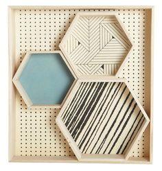 Hexagonal Tray - / Set de 4 by House Doctor