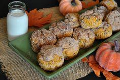 Whole-grain pumpkin chocolate chip donut muffins