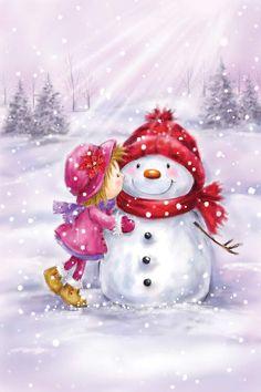Christmas Clipart, Vintage Christmas Cards, Christmas Printables, Christmas Snowman, Winter Christmas, Christmas Holidays, Christmas Crafts, Merry Christmas, Christmas Decorations