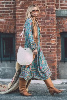 Alexandra Spencer wears Spell Designs Folk Town Boho Dress