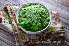 This recipe is a really lightened up replacement for mashed potatoes, with the enhanced flavors of garlic and kale. While I can't promise that your kids will love it – mine were not impressed – I can tell you that when I served this for dinner all of the adults in the group went for seconds!