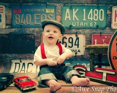 5ft x 6ft License Plate Backdrop for Photography - Fun Photography Backdrop for Kids Photos - Vinyl - Item 1478 $60