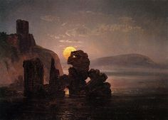 Johan Christian Claussen Dah - Ruins Above a Bay (1822)