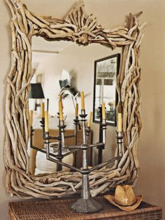mirror made with driftwood