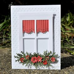 Card using the Madison Window Die and assorted punches