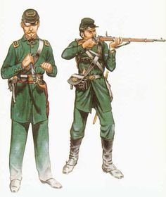 Officer and Corporal, 1st US Sharpshooters (Berdan's)