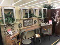Rustic Farmhouse Decor, Farmhouse Ideas, Hobby Lobby Furniture, Decorating Ideas, Decor Ideas, Home Living Room, Display Ideas, Farm House, Ann