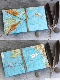 Repurposed map folder.