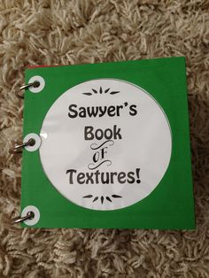 How Sweet It Is: DIY Book of Textures (sensory book)
