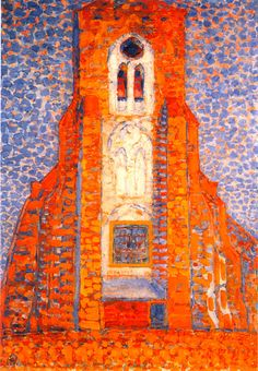 Piet Mondrian  Sun, Church in Zeeland, 1909-1910, Tate Modern Art Gallery, London.