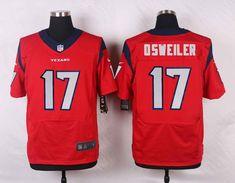 Men 17 Brock Osweiler Jersey Football Houston Texans Jersey 4284da1df