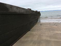 Beach groyne in Abersoch Wales