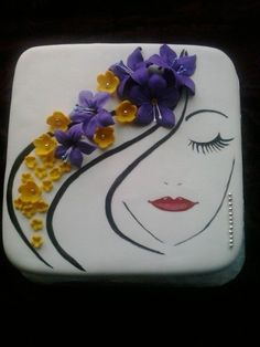 New cake art woman 37 Ideas Gorgeous Cakes, Pretty Cakes, Cute Cakes, Amazing Cakes, Fondant Cakes, Cupcake Cakes, Decoration Patisserie, Cakes For Women, Painted Cakes