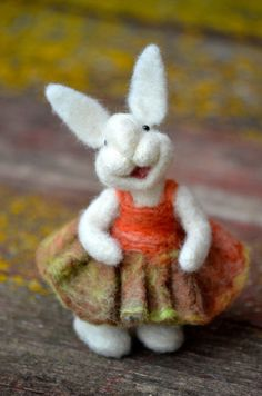 Needle Felted wool Bunny Rabbit  - needle felted animals - Bear Creek Bunnies. by MyLittleCornerOfTheWorld