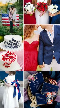 Fourth of july wedding decorations of inspired wedding ideas . fourth of july wedding decorations July Wedding Colors, July 4th Wedding, Wedding Themes, Wedding Decorations, Autumn Wedding, Blue Wedding, Summer Wedding, Wedding Day, Wedding Ceremony