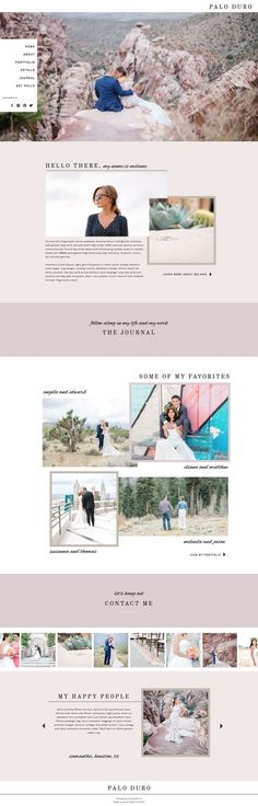 Palo Duro | Showit Template For Creative Entrepreneurs and Photographers | Modern and Feminine Website Design