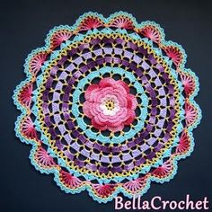 BellaCrochet: Radiant Rose Mandala Doily: A Free Crochet Pattern For You
