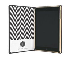 Monogrammed Black and White Chevron Pattern iPad Air Dodo Case #monogram #gifts