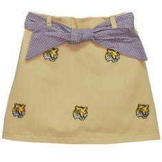 Embroidered Louisiana Skort - LSU Tigers - $54