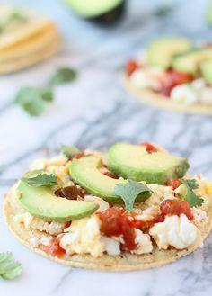 Egg White and Avocado Breakfast Tostados