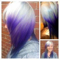 Used Pravana Vivids Purple hair color today!   Holy Hair ...