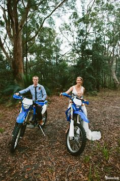 Barefoot Kangaroo Valley Bush Retreat Wedding featuring dirt bikes, a cattle dog and an outdoor cathedral made of rock. Please enjoy this fun bush wedding.