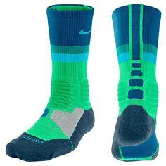 online retailer 2adda 94ebb Nike Hyperelite Fanatical Crew Socks Light Lucid Green Medium Light Blue  Nike Huarache, Nike
