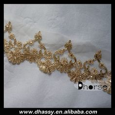 China wholesale fashion gold sequin lace trimming for dress, View lace trimming , Dhorse Product Details from Guangzhou Dhorse Garment Accessory Firm on Alibaba.com