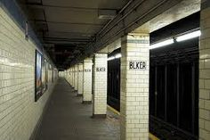 new york subway station - Google Search note the pillars next to the track