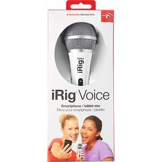 Make quality audio and vocal recordings on the go with this iRig Microphone! iRig Mic is ideal for the singer, vocalist and songwriter on the move, but also perfect for recording speeches, instruments