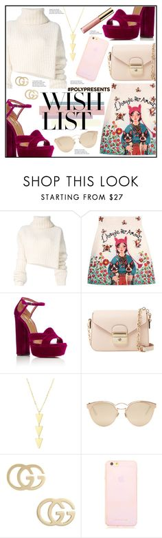 """#PolyPresents: Wish List"" by piloariass on Polyvore featuring moda, Ann Demeulemeester, Gucci, Aquazzura, Longchamp, Christian Dior y tarte"
