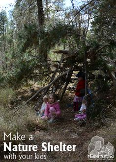 Make a Nature Shelter with your kids
