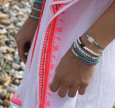 Boho Beach Style, Aspiga Festival Embroidered Kaftan with Boho Betty Atlantis Bracelet Stack & Aqua Blue Hair Tie Set Boho Beach Style, Tie Set, Atlantis, Blue Hair, Hair Ties, Aqua Blue, Kaftan, Bb, Bracelet