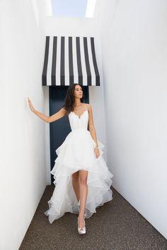 Davids bridal wedding dresses sexy Ideas for 2019 Hi Low Wedding Dress, Backyard Wedding Dresses, Two Piece Wedding Dress, Black Wedding Dresses, Bridal Wedding Dresses, Two Piece Short Dress, Wedding Venues, Wedding Dress Pictures, Wedding Tips