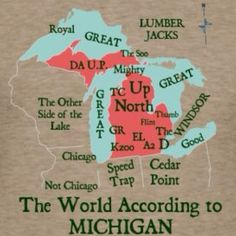 us map according to michiganders - Google Search