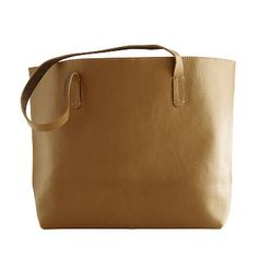 "I love the Everyday Leather Tote Bag, Camel on markandgraham.com with personalization 559 ""n"""