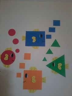 Shapes sorting activity for pr Preschool Classroom Decor, Preschool Colors, Toddler Classroom, Preschool Learning, Math Activities, Toddler Activities, Preschool Activities, Art For Kids, Crafts For Kids