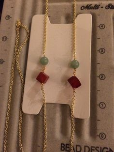 Chain #18.  For Maura's sister 2. Jade and tourmaline $45 #YbyHY