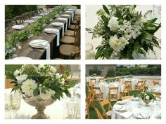 Beautiful Green and White Wedding  Seasons Floral Design of the Napa Valley  www.seasonsfloraldesign.com